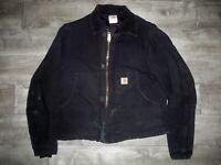 Carhartt Men's Black Duck Arctic J02 Traditional Quilt-Lined Jacket Mens Size 40