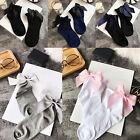 Women Glitter Bow Knot Mesh Fishnet Net Girl Low Cut Ankle Socks Hosiery Pop*