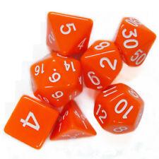 RED Polyhedral 7 Dice Set D4 D6 D8 2 x D10 D12 D20 CHIP 122B
