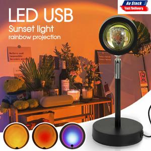 Sunset Romantic Projection Lamp LED Floor Rainbow Night Light Home Living Decor