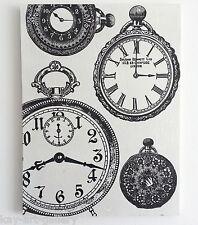 Wall Picture Plaque , Vintage Retro style Handmade / Clock / Decoupage