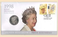 Australia 2016 QEII 90th Birthday Broadley Portrait PNC Stamp 50c UNC Coin Cover