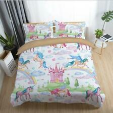 3D Kids Home of Unicorns Bedding Set Duvet Cover Comforter Cover Pillow Case