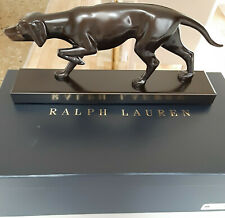 Msrp $1395 Rare Ralph Lauren Bronze Dog Statue Reid for Office, Den, Other Room