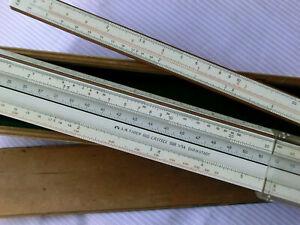 FABER CASTELL SLIDE RULE 1/54 + ORIGINAL WOODEN BOX – DARMSTADT 1952 model