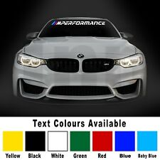 BMW M Performance Car Vinyl Decal Sticker Window Windshield Bumper Banner m3 m5