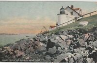 Lighthouse postcard Vinal Haven, Maine ME Brown's Head Light Vintage