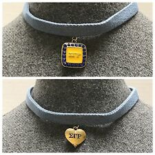 Sigma Gamma Rho Choker With Gold Charm 2 To Choose From SG Rho