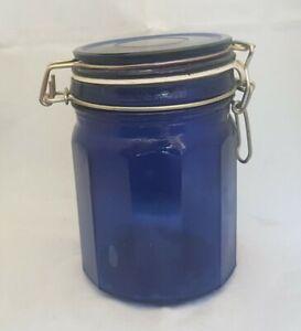 Beautiful Cobalt Blue Glass Jar