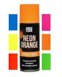 x1 Fluorescent Neon Blue Aerosol Spray Paint Matt 200ml Auto Car 151 Quality