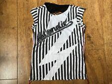 Women's music House of the gods Blondie white fringe back t shirt XS UK 8