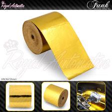 Funk Reflective GOLD Adhesive Heat Wrap 10m x 5cm High Temp Insulation Roll