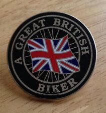A Great British Biker Enamel Pin Badge Motorcycle Ace Cafe Mcc Rally Welsh
