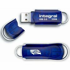 Integral Courier Flash Drive with LED Light USB 2.0 Read 12MB/s Write 3MB/s 32GB