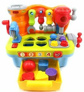PowerTRC Little Engineer Multifunctional Musical Learning Tool Workbench For Kid