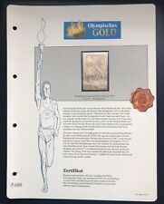Olympics Los Angeles 1984 USA Gold stamps 99,8% Goldauflage* Only 4.999 MNH 7/9