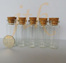 10pcs of 12ml small glass vials with cork tops bottles Little empty jars 22*55mm