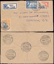 Gold Coast goaso registrado a Escocia... 7 Transparente Matasellos 1954