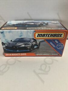 2020 Matchbox Power Grabs New 2018 Bugatti Divo Ultra Rare HTF Mbx Coastal !!!!!