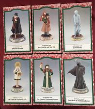 "Charles Dickens Classic ""A Christmas Carol"" Porcelain Set of 6 Figurines"