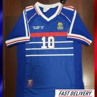 Maillot FOOT FRANCE 1998 N°10 ZIDANE Football shirt coupe du monde world cup