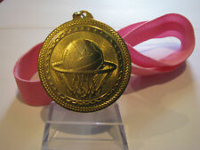 Netball Shiny Gold 50mm Gold Medal Engraved FREE