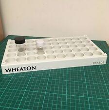 Wheaton Flacone Bottiglia Rack 50 posizione 28 mm Wells per 20 ML e 30 ml bottiglie di vetro