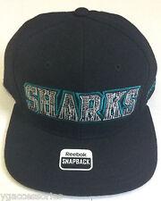 NHL San Jose Sharks Reebok Snapback Cap Hat NEW!!