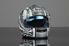 Sunax de los cascos Arai-y flexible interior Visera, Protección Uv 100% Plata