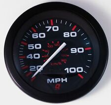 New Teleflex Mercury Quicksilver Red 100 MPH Bass Boat Speedometer Gauge Speedo