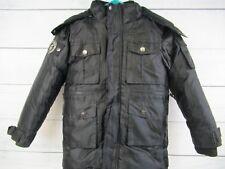 Rocawear World Standard Boys Classic Black Winter Coat fur trim hood Size M 5/6