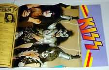 KISS Poster Aucoin ROCK SHOW #5 Japan Japanese Magazine 1977 Queen Runaways