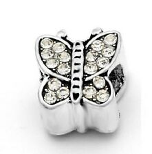 CRYSTAL BUTTERFLY CHARM BEAD FOR BRACELET OR NECKLACE