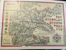 Cartina geografica storico Carte immagini Germania und zone adiacenti 25-34