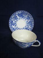 Vintage Noritake Japan  Blue & White Birds & Flowers Cup & Saucer (s)
