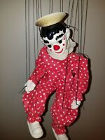 VINTAGE 1930s EFFanBEE   CLIPPO THE CLOWN MARIONETTE PUPPET DOLL WITH BOX