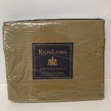 Vintage Ralph Lauren Polo Solid Ghurka Queen Flat Sheet 250 TC Pima Cotton New