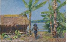 AK Kolonialkriegerdank, Künstlerkarte Papua in Neuguinea, Prof. Peter P. Müller