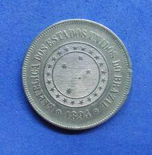 LB) Brazil Brasil -  100 Reis 1894 KM#492  NICE COIN