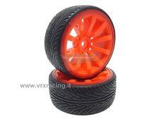 009D003B Coppia ruote complete di inserto 1/10 drift cerchio arancione VRX