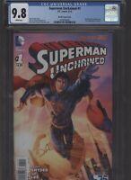 Superman Unchained #1 CGC 9.8 Brett Booth variant JIM LEE 2013 Scott Snyder