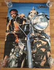 "1998 Authentic Jimi Hendrix Winterland Production On Motorcycle Poster 23"" X 35"""