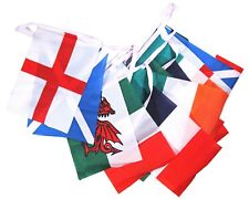 RUGBY SIX NATIONS FABRIC FLAGS BUNTING 6 Metres 19 FT ENG IRE SCOT WALES FRA ITA