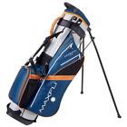 MAXFLI Sunday Golf Stand Bag GRAY/BLUE/ORANGE 3-Way Padded Divider