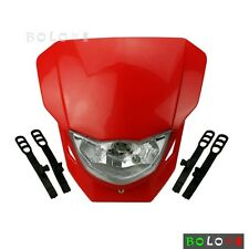 Red Dirt Bike Motocross Headlight Dual Lamp Fairing For Honda CRF250R CRF450R