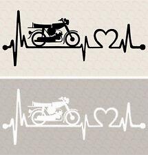 Aufkleber Simson S51 mit Herzschlag Heartbeat Kult