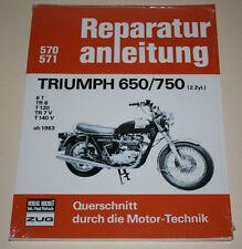 Reparaturanleitung Triumph 650 / 750 Bonneville Thruxton Thunderbird ab 1963