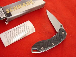 """Schrade Knives 3"""" Assisted Opening Extreme Survival Linerlock Lock blade Knife"""