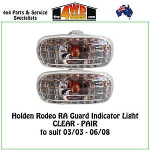 Indicator Guard Blinker CLEAR Lights fit Holden Rodeo RA Isuzu DMAX PAIR 03-08