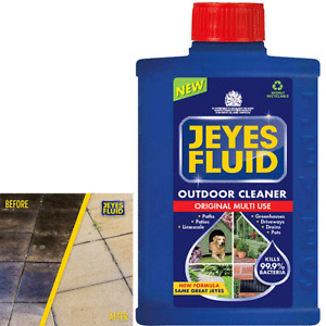 1 Litre Jeyes Fluid Multi Purpose Outdoor Disinfectant Cleaner Paths Patio Blue